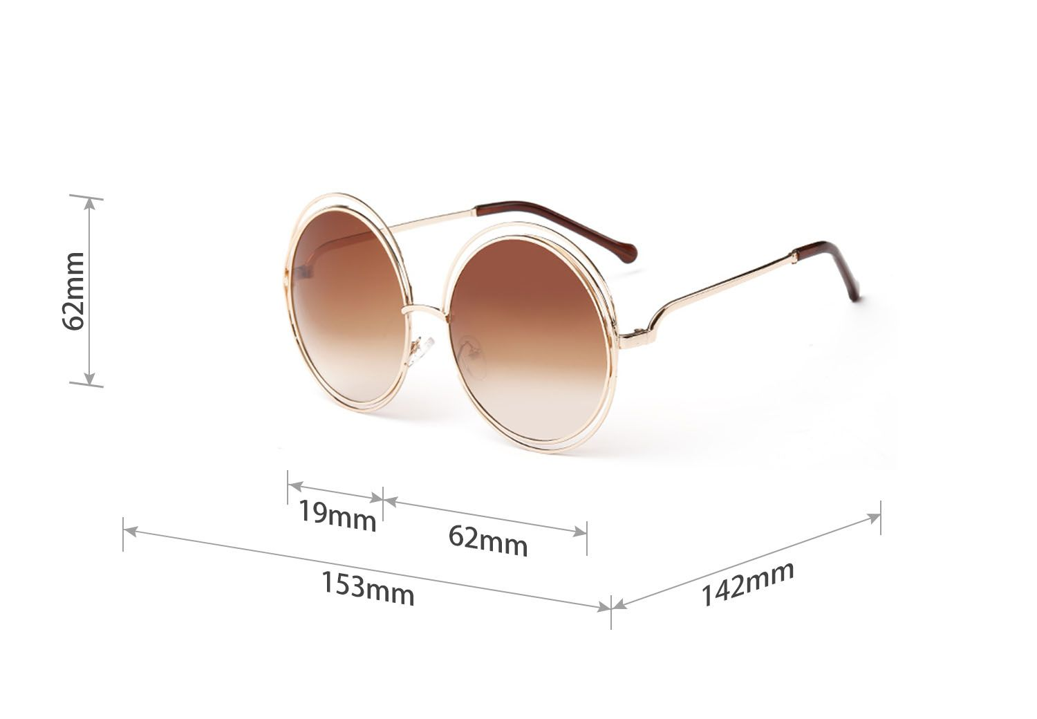 The Size Of 8048 Sunglasses Embossed Printing Sunglasses Wildfox
