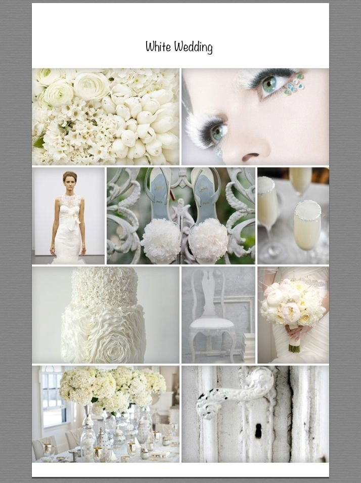 #wedding #white #moodboard
