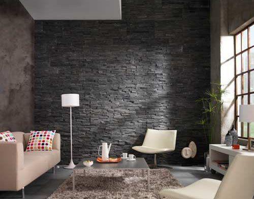 mur en pierre derriere un poele a bois - Recherche Google ambiance