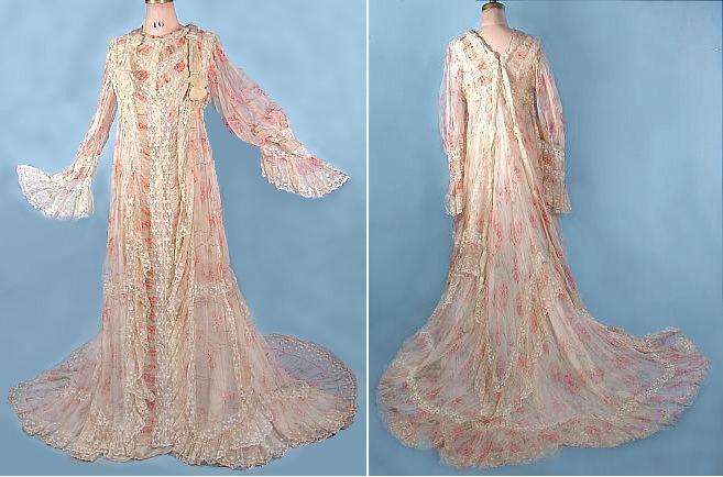 1900 Dressing Gown Art Nouveau Peignoir Et Belle 233 Poque