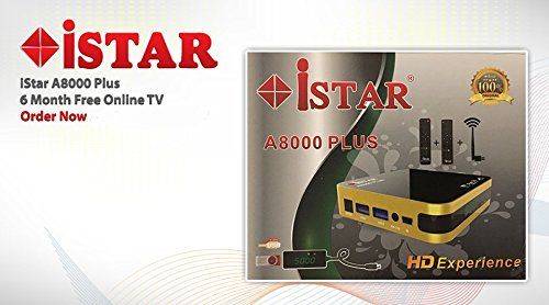 iStar A8000 Plus IPTV BOX with 6 MONTHS FREE online TV Full
