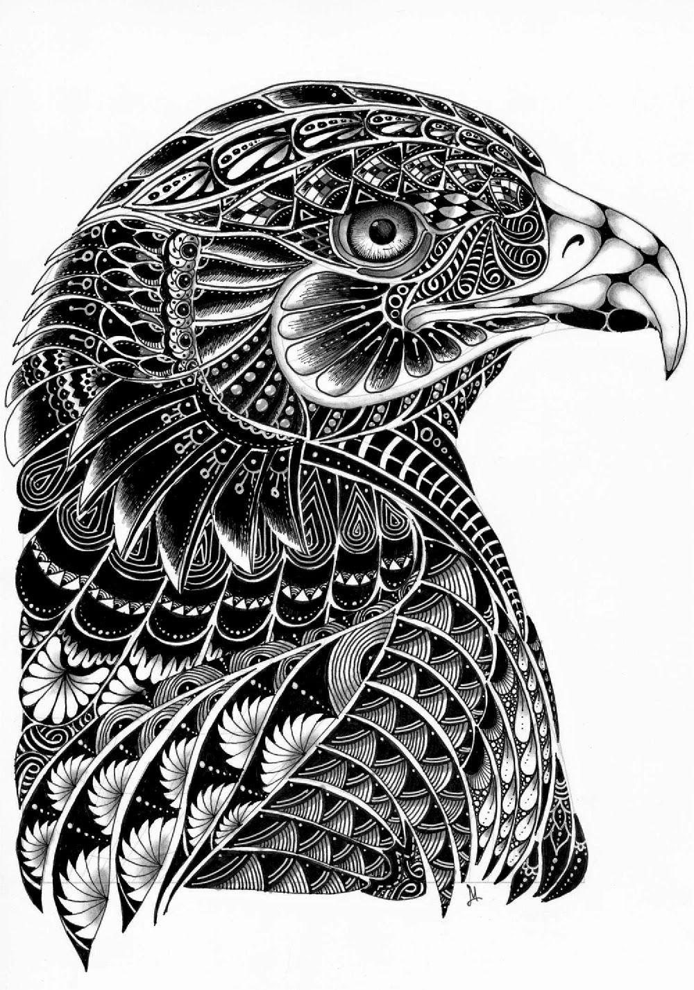 Aguila | tigre samoano | Pinterest | Mandalas, Dibujo y Zentangle