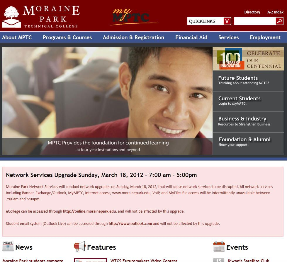 Moraine Park Technical College Student login, College