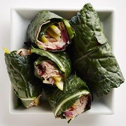 Kale Turkey Wraps #proteinlunch