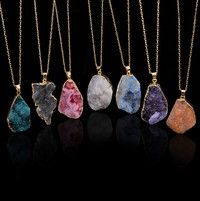 HOT Natural Crystal Quartz Healing Point Chakra Bead Gemstone Necklace Pendant  WIWU | Wish -   20 women's jewelry Necklace stone pendants ideas