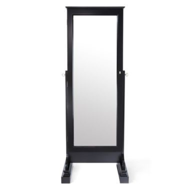 Kathy Ireland® San Mateo Mirrored Standing Jewelry Cabinet found ...