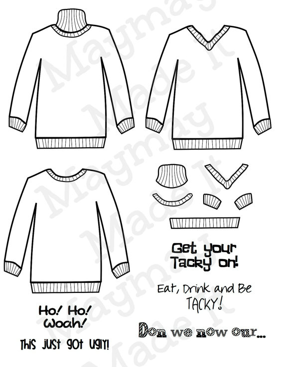 Ugly Sweater Template by MaymayMadeIt on Etsy, $099 Every Last