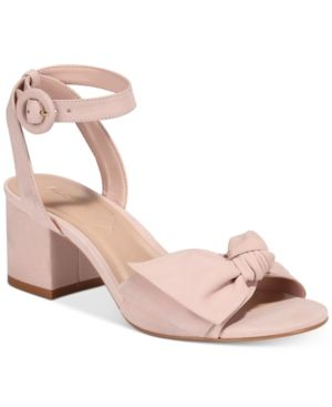 6feb979fc5d Aldo Beautie Two-Piece Block-Heel Sandals - Pink 8.5B | Products ...
