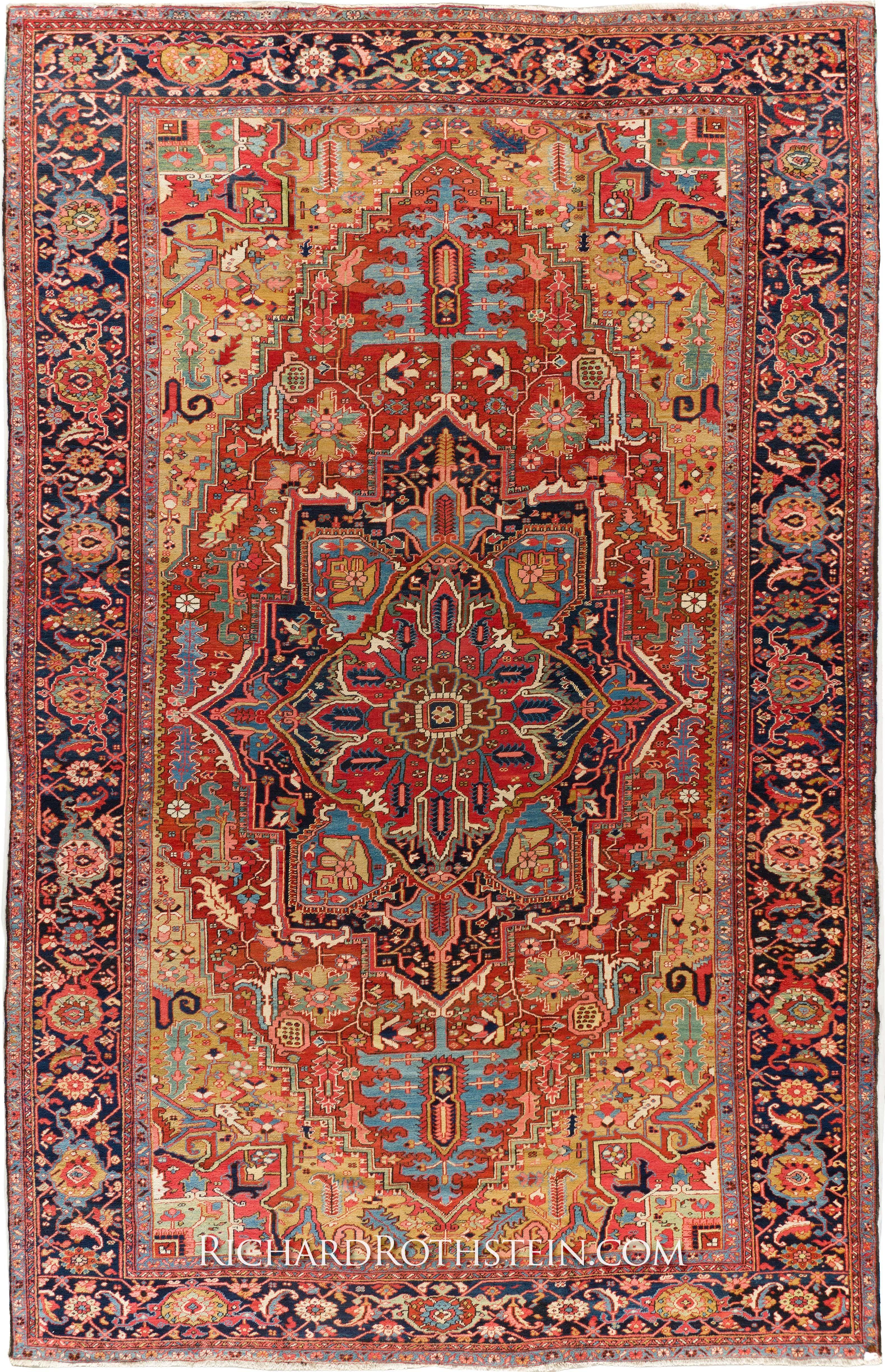 Polonaise antique oriental rugs - Museum Heriz Antique Oriental Rug C55d6961
