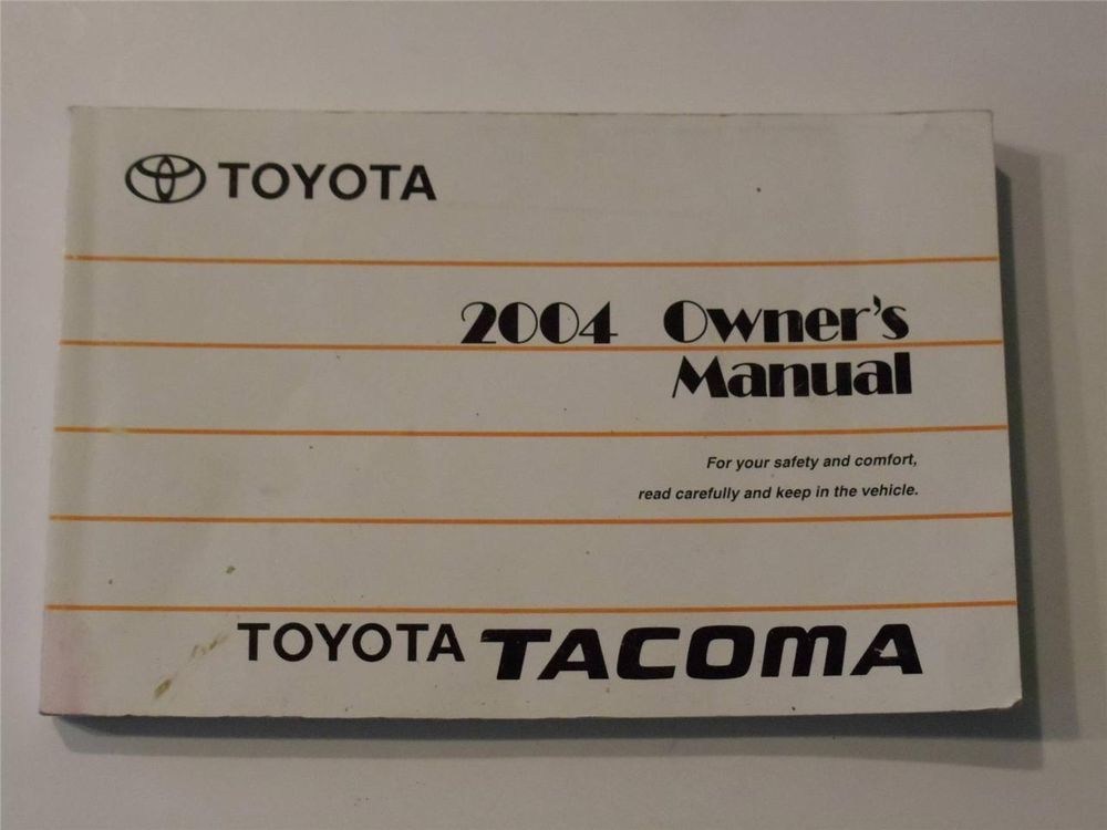 2004 toyota tacoma owners manual book owners manuals pinterest rh pinterest com
