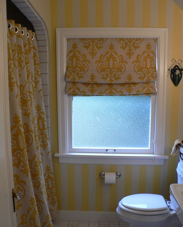 20 Designs for Bathroom Window Treatment | Bathroom windows, Window ...
