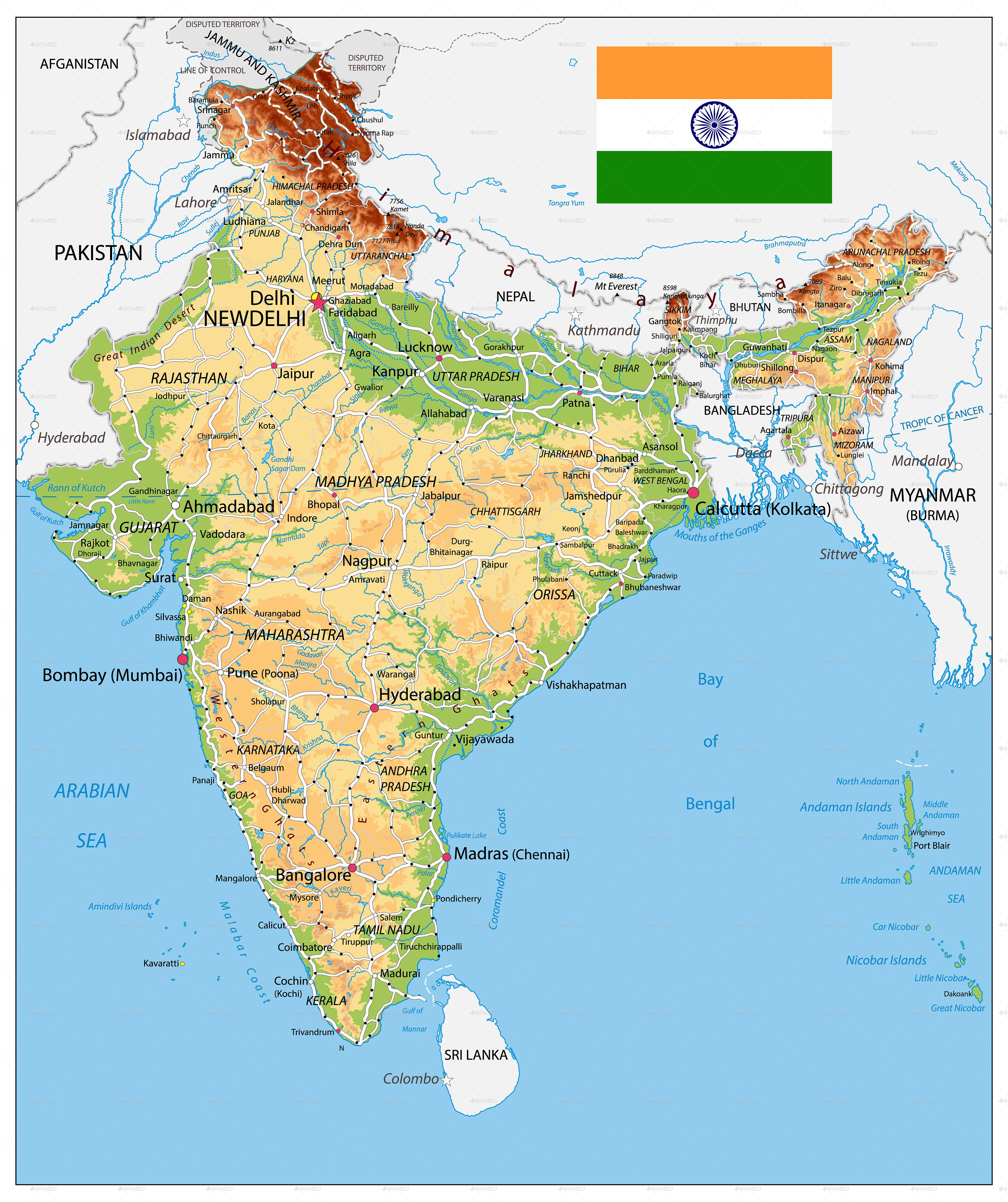images of physical map of india India Physical Map India Map Map Logo Physical Map images of physical map of india