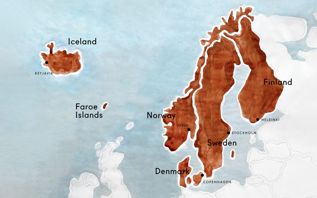Discover The Best Maps Of Scandinavia In 2020 Scandinavia Map Nordic Countries
