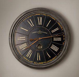 All Wall D 233 Cor Rh Restoration Hardware Clock Vintage