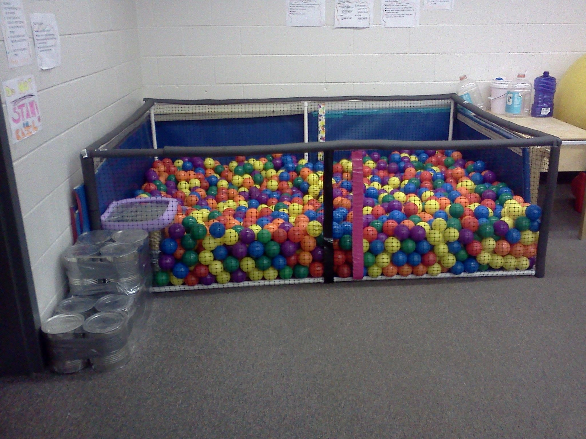 Homemade Sensory Ball Pit Less Than 100 Without The Balls