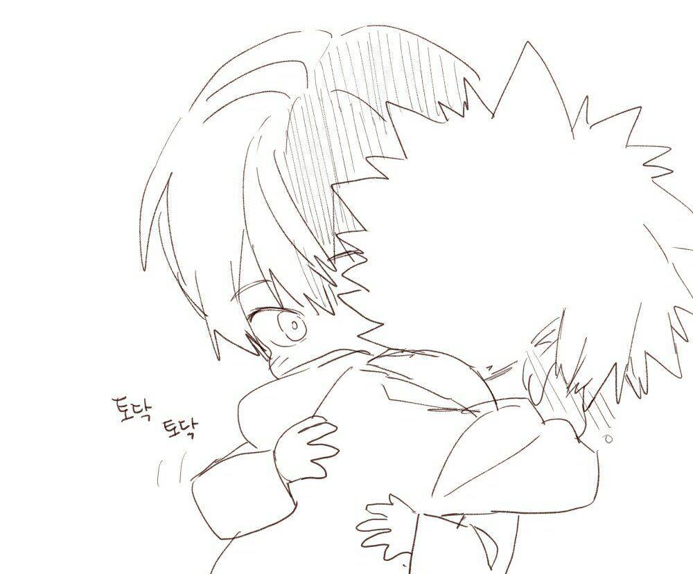 Boku No Hero Academia Todoroki Shouto Katsuki Bakugou Hero Boku No Hero Academia Cute Hug