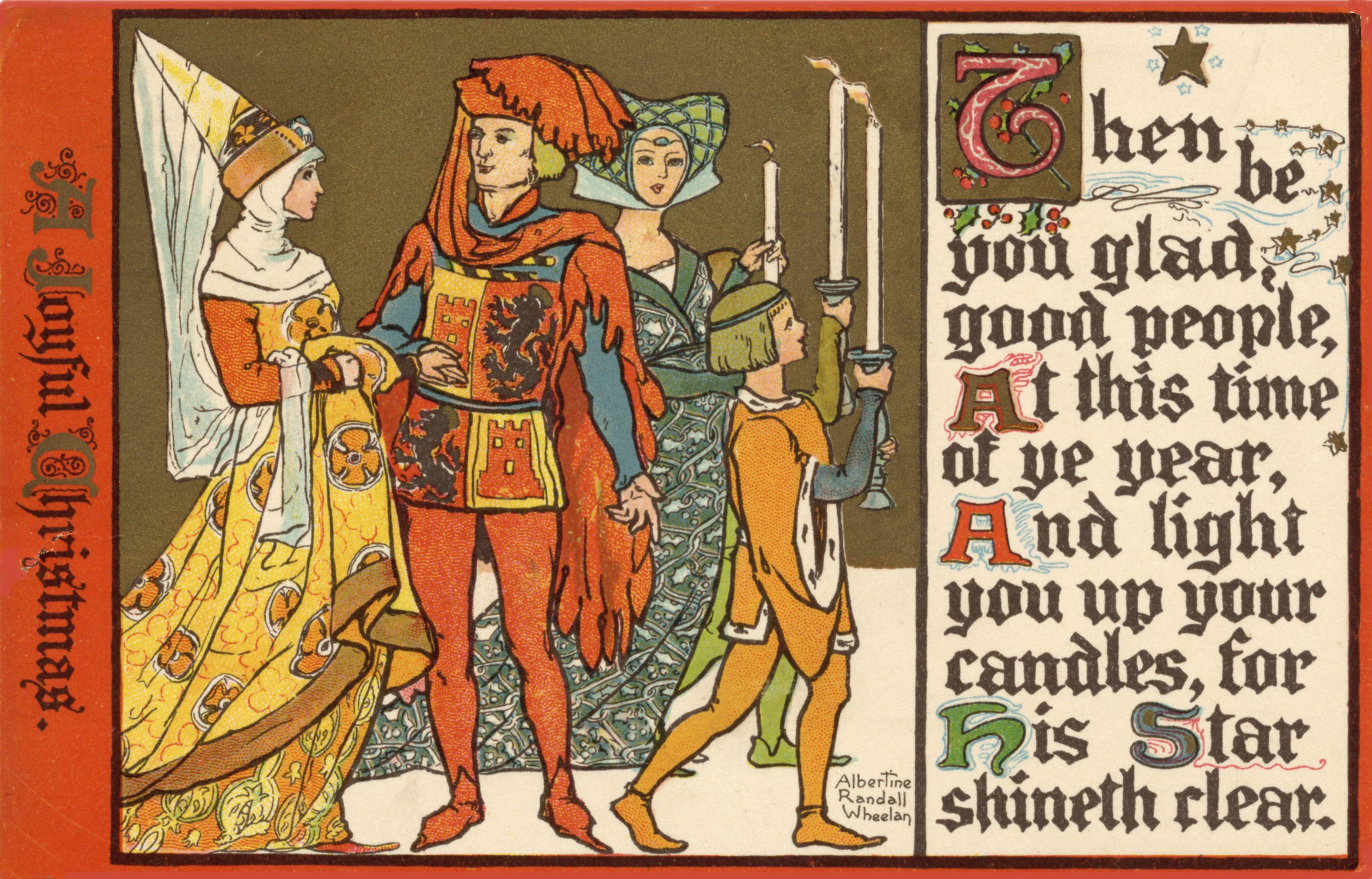 Free Image Friday: Medieval Merry Christmas | Amybarickman.com ...