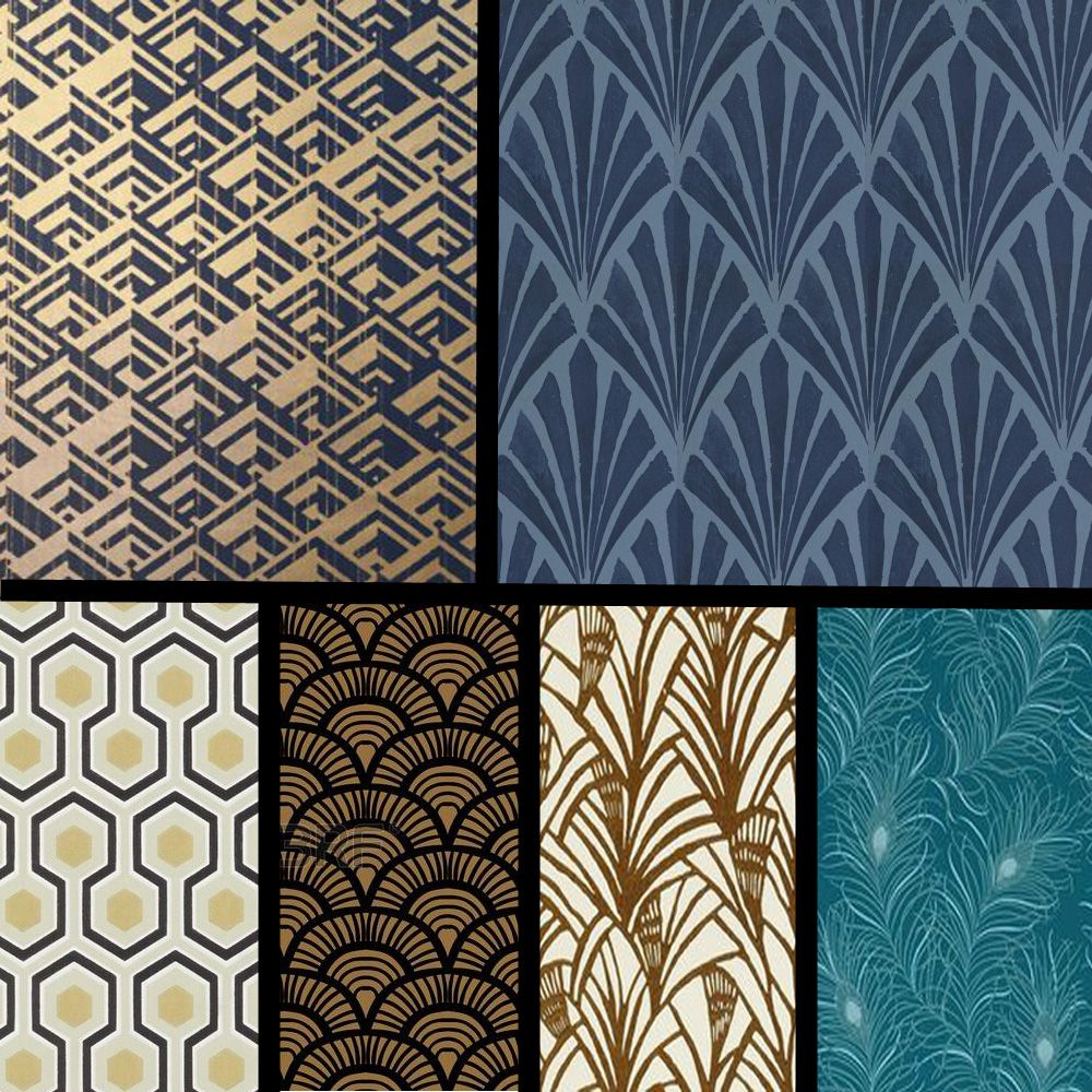 tendance papier peint quoi de neuf pour 2017 2018 art deco wall papers and wallpaper. Black Bedroom Furniture Sets. Home Design Ideas
