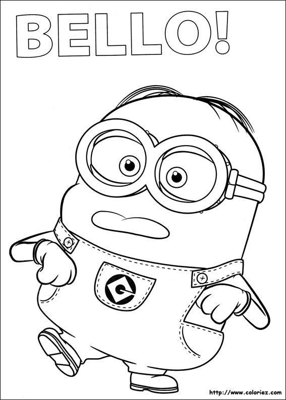 coloriage les minions colorier dessin imprimer - Dessin Minion