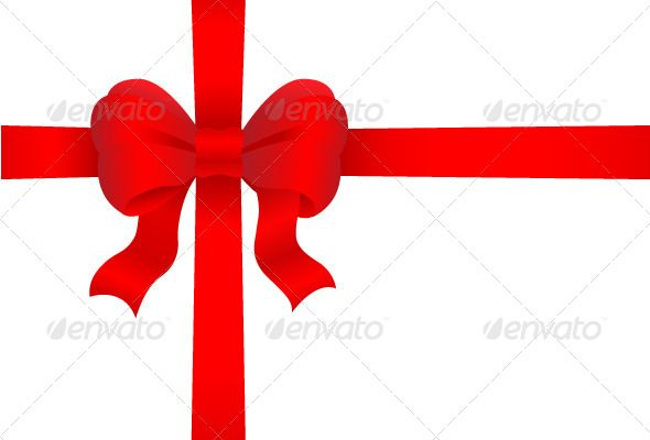 Red Gift Bow ...  bow, box, celebration, closeup, decoration, decorative, design element, elegance, festive, frame, gift, isolated, knot, ornament, package, paper, present, red, ribbon, satin, sign, silk, space, symbol, tied, white, wrap