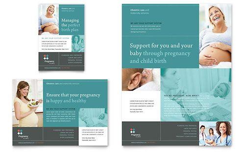 Pregnancy Clinic - Print Ad Template Design Sample | Design ...