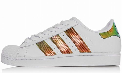 Adidas Superstar Bling XL Stripes White Gold Hip Hop Old School Ultrastar  New | eBay