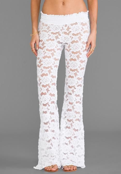 d1b87f92ab87 beach bunny lace pants | LOVELY IN LACE | Lace pants, Beach bunny, Pants