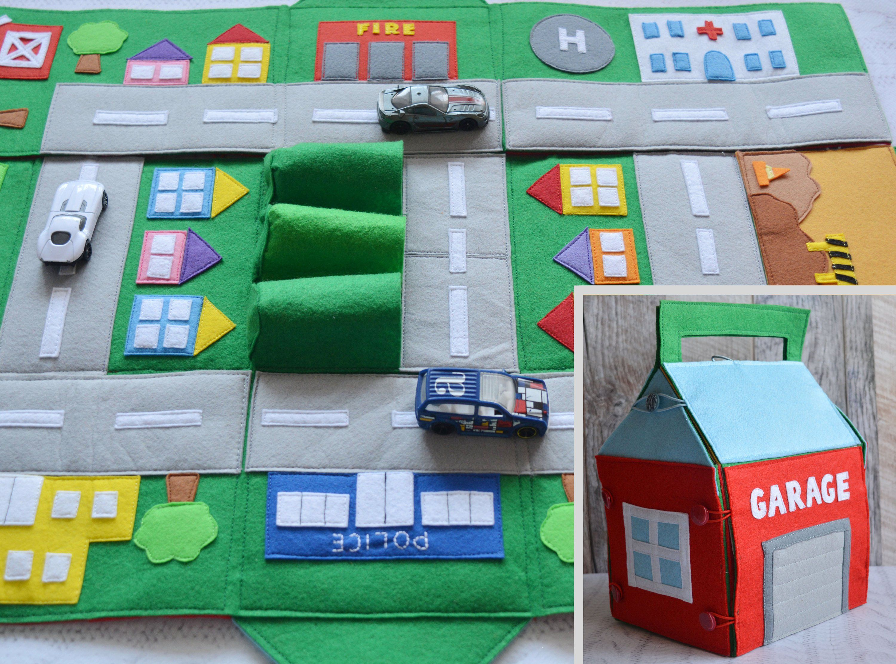 Spielmatten Für Kinder Felt Car Play Mat Kids Road Map Play Mat Track For Boy Toy Car