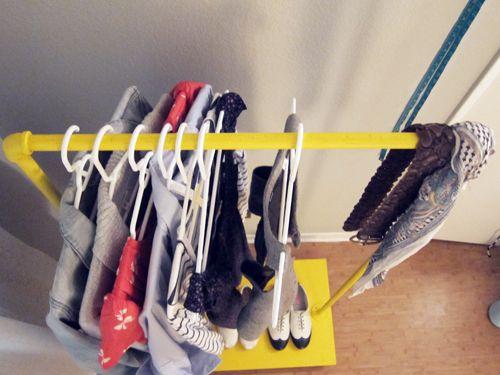 diy: rolling rack