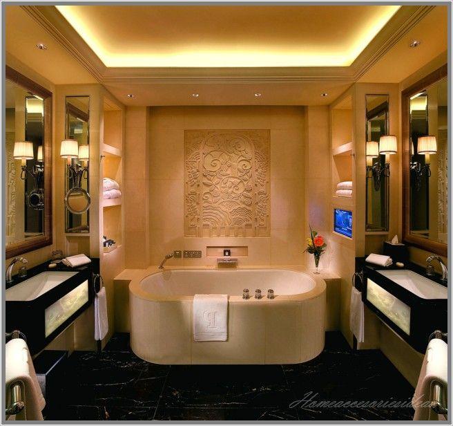 Bad Fliesen Ideen Modern Halbinsel Deluxe Zimmer Bad Badezimmer ...