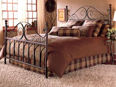 metal bed frame, queen size