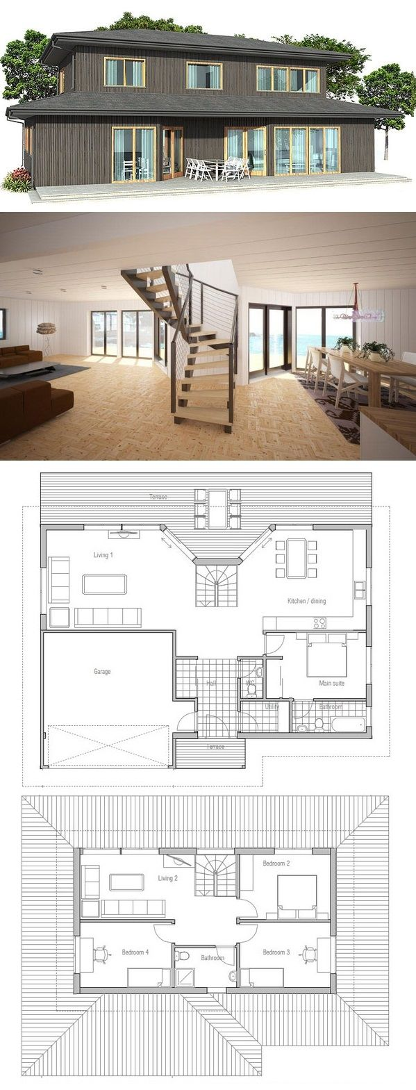 House plan from little houses made of for Concept home com