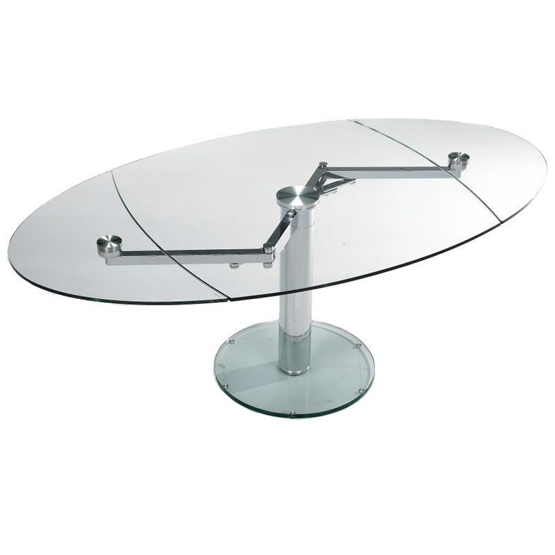 Wonderful Expandable Oval Glass Dining Table | Buy Glass Tables