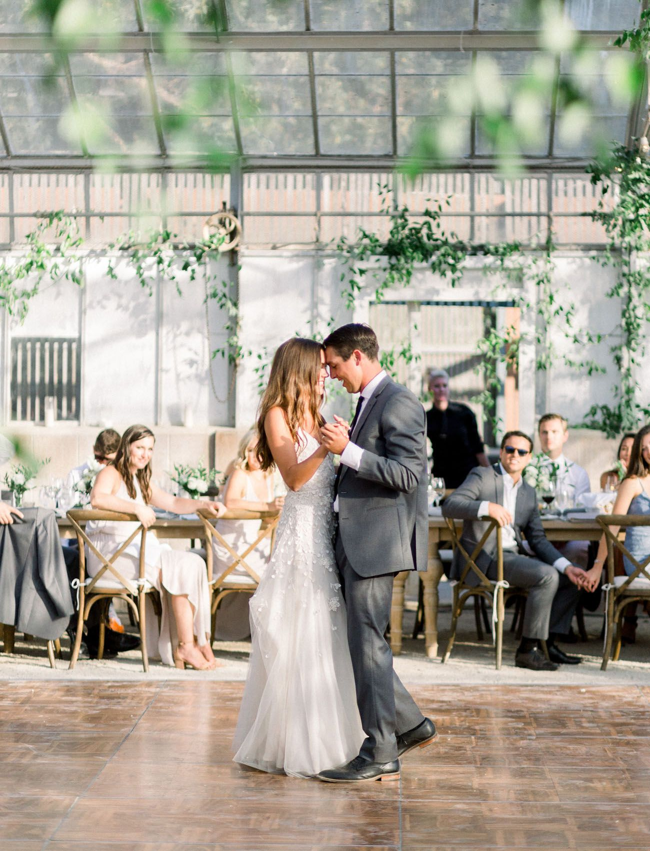 Wedding dress with black shoes  It Was All About Modern Whimsy at this Greenhouse Wedding in Goleta