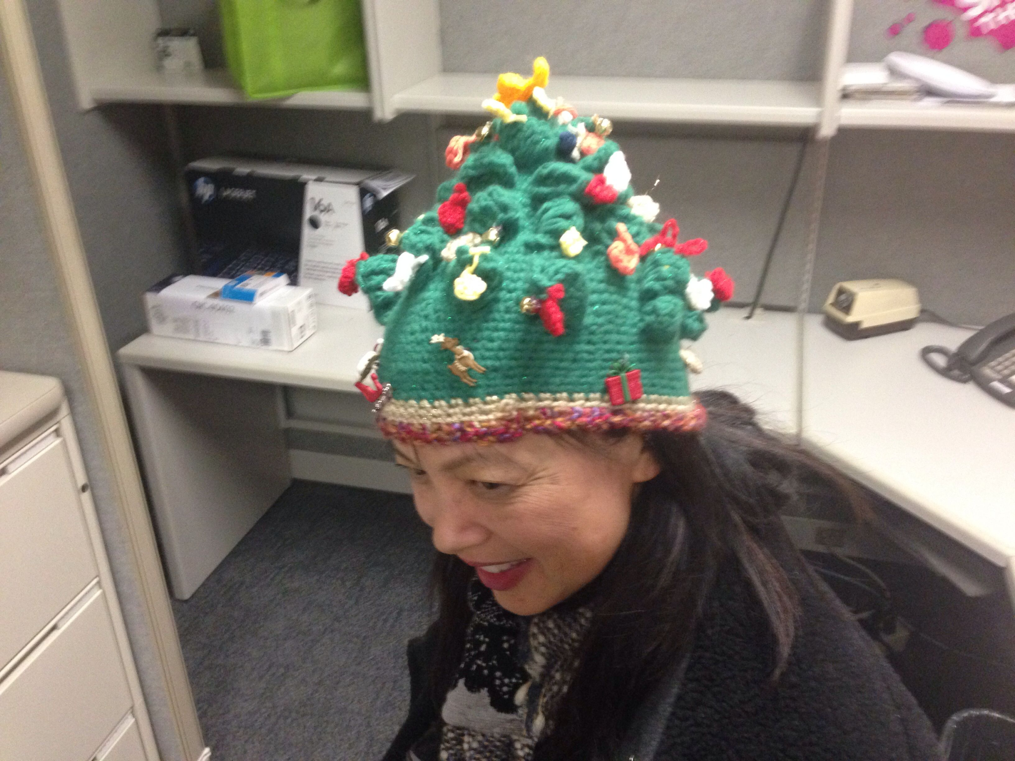 Knit Christmas Tree Hat