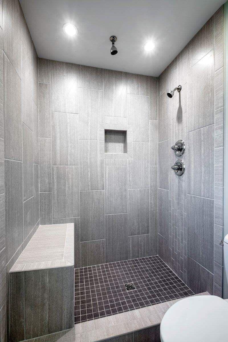 gray tile bathroom shower