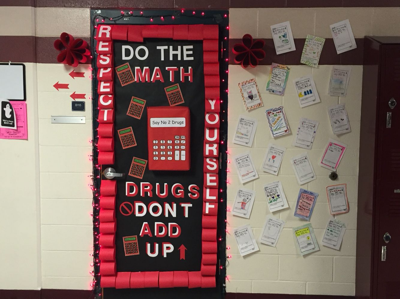 Red Ribbon Week Door Decoration Math Inspired Drugfree