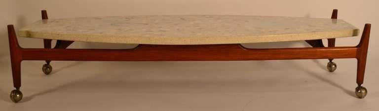 harvey probber travertine top surfboard coffee table tables rh pinterest com