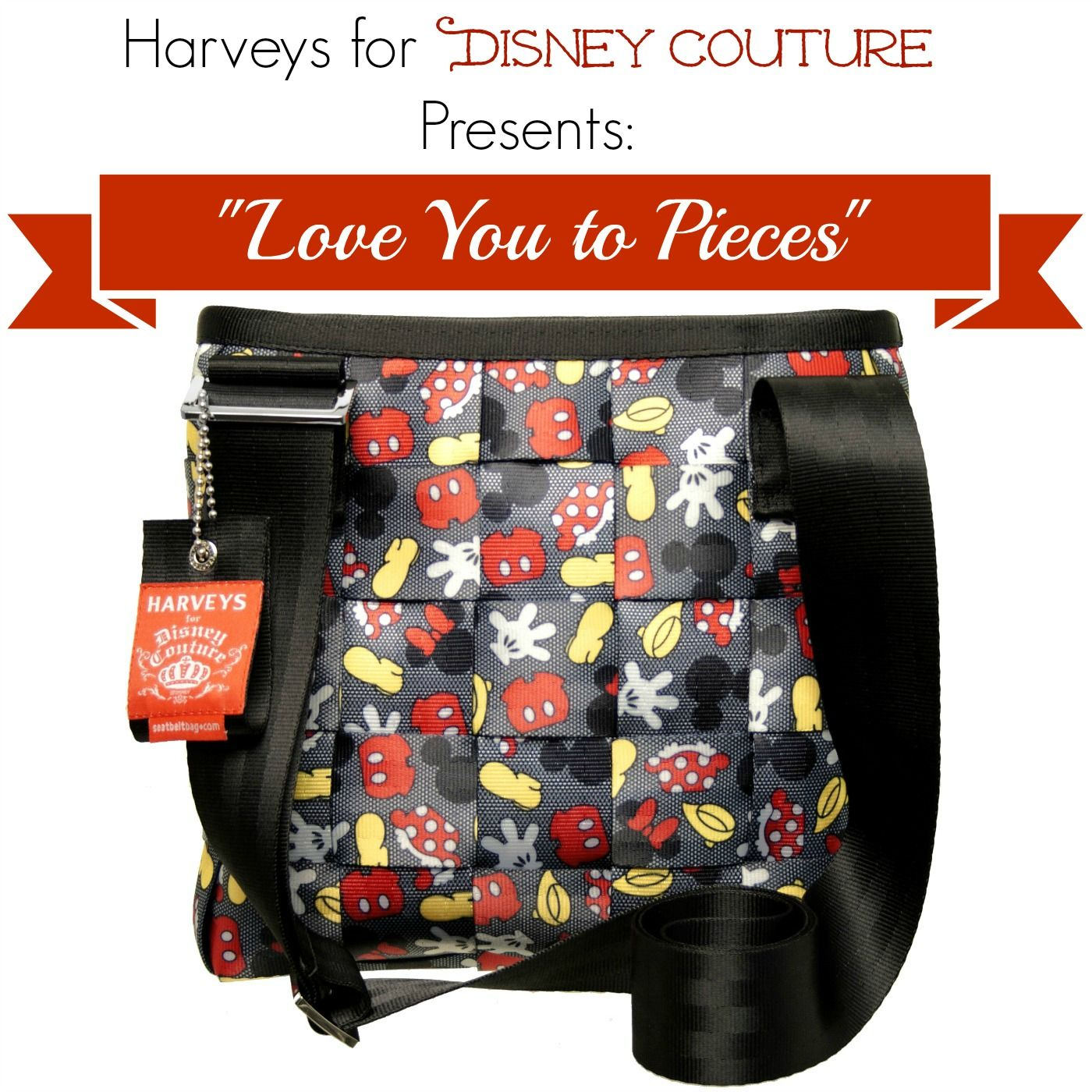 Harveys for Disney Couture Brand new Seatbelt Bag Collection