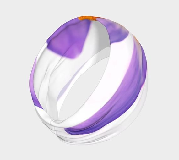 Crocus Yoga headband, Workout Headband, No Slip Headband, Purple HairBand, Nature Headband, Running #yogaheadband
