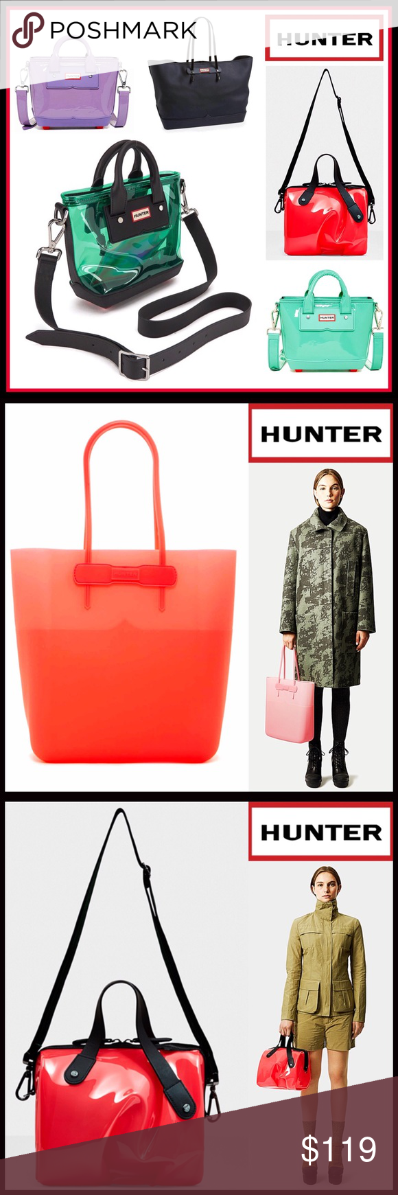 66250ea3f4 HUNTER ORIGINAL AMAZING BAGS AND TOTES HUNTER ORIGINAL BAGS AND TOTES- Take  a look in