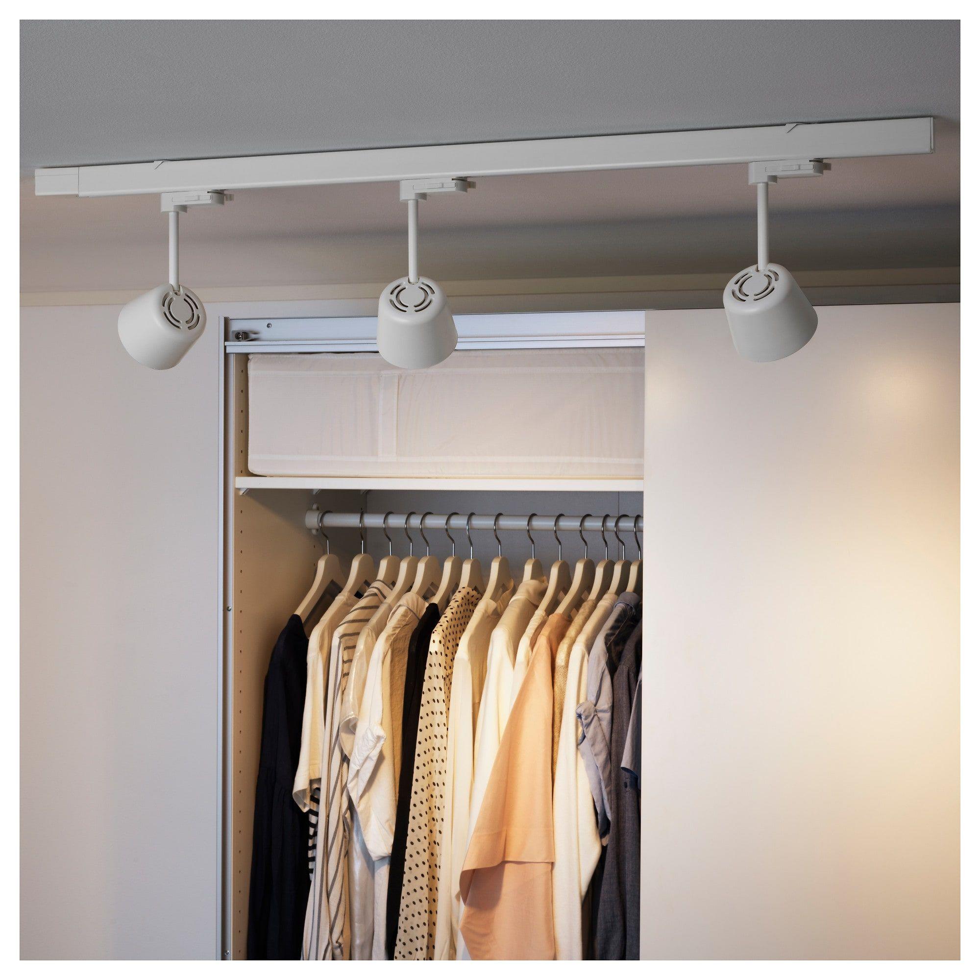Ikea Skeninge Track With 2 Led Spotlights White Ikea Ikea Lamp Shade Ikea Lamp