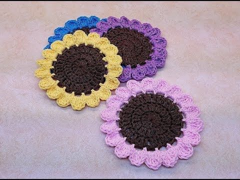 Learn How To Crochet Easy Wildflowers Coaster Set Tutorial 394