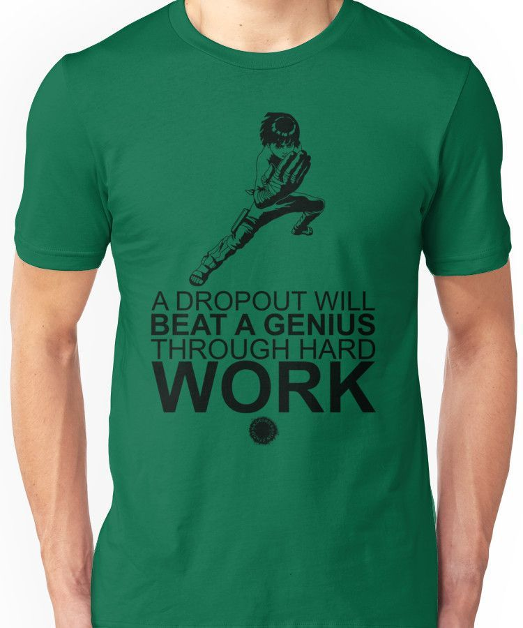 Rock Lee - A Dropout Will Beat A Genius Through Hard Work [Black