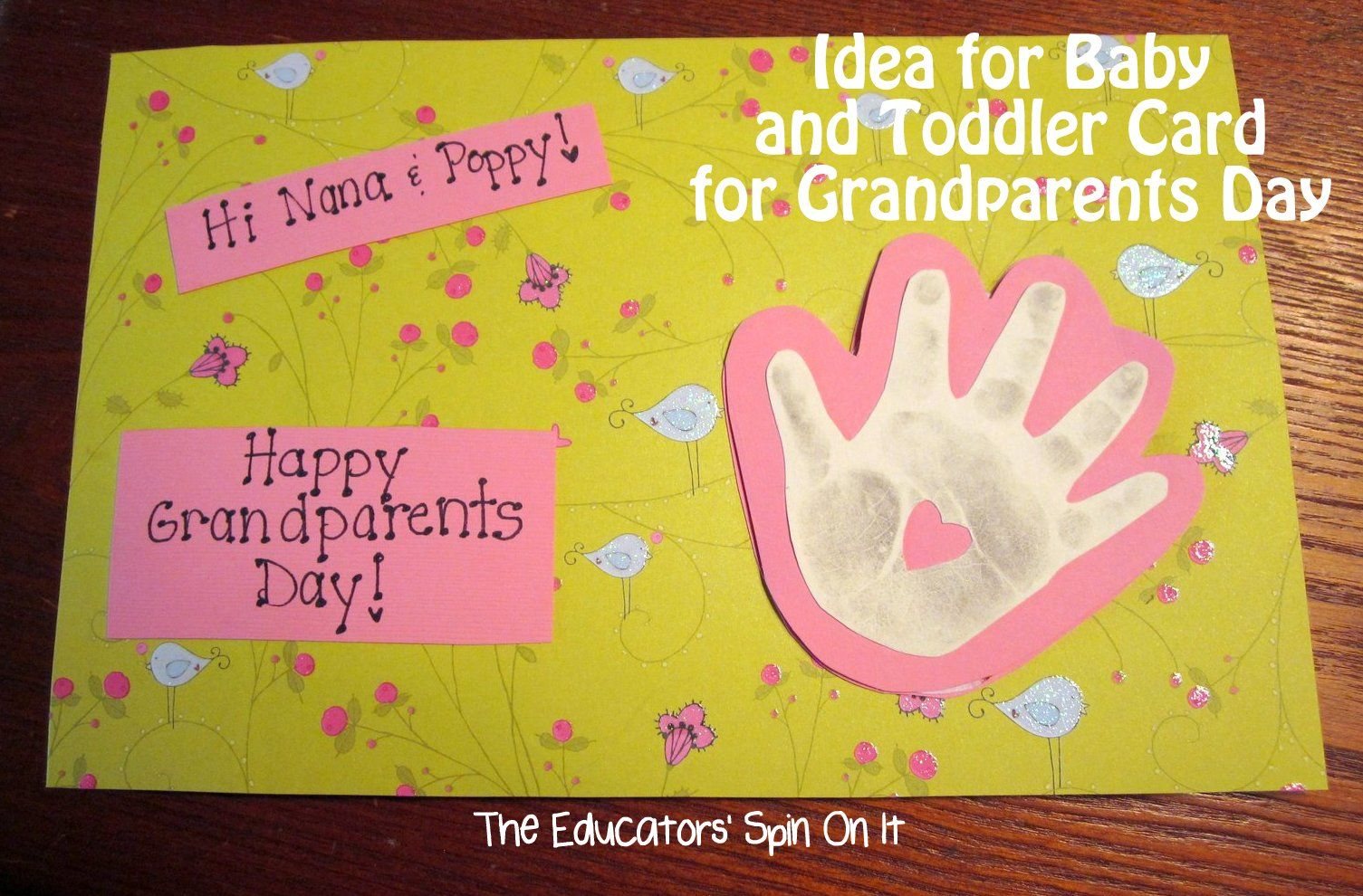 The educators spin on it handprint card for grandparents day the educators spin on it handprint card for grandparents day blowing kisses kristyandbryce Gallery