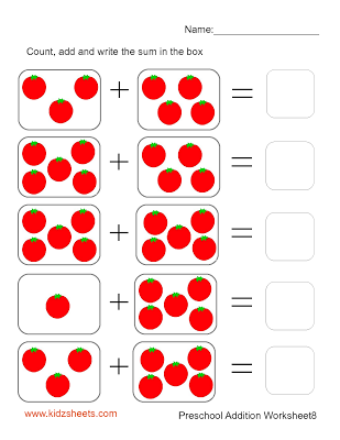 Preschool Addition (Sheet8) | PUZZLE | Pinterest | Math, Worksheets ...