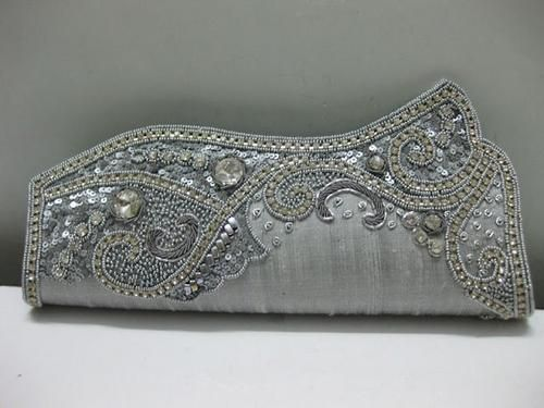 Wedding Bridal Clutch Purse Handbag Bag Silver | Dresses for ...