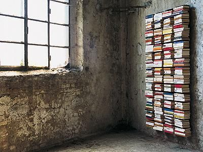 My ongoing obsession: wall o' books