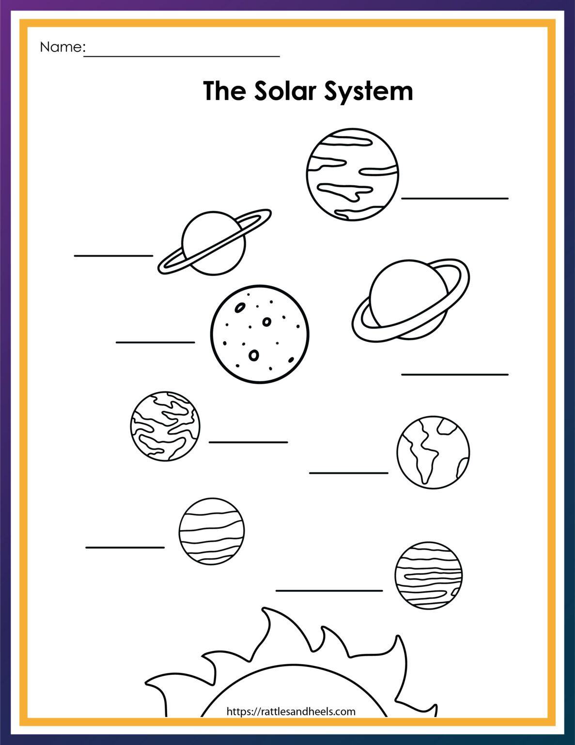 Free Solar System Worksheets For Kids Adanna Dill Solar System Worksheets Solar System For Kids Free Solar