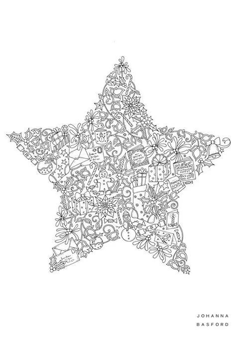 pin natasja blom op volwassen kleurplaten kerstmis